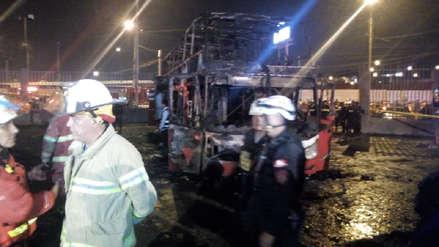 Incendio de bus en terminal informal de Fiori dejó 17 muertos