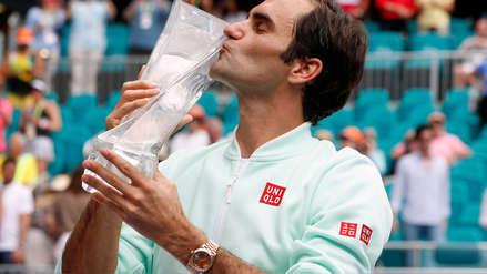 ¡Su majestad! Federer venció a Isner y se proclamó campeón en el Masters 1000 de Miami por cuarta vez