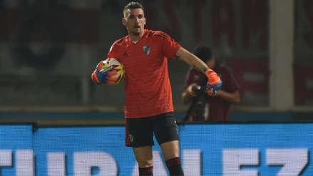 Franco Armani se lesionó y será la quinta baja de River Plate para su partido ante Alianza Lima