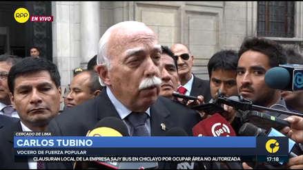Fuerza Popular debatirá si vota en bloque tras presentación de Salvador del Solar ante el Congreso