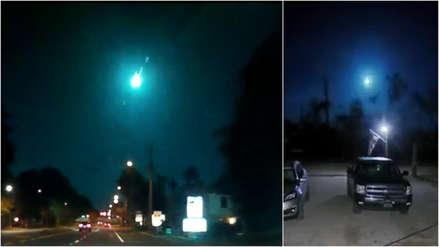 Videos muestran cómo un meteoro iluminó el cielo de Florida