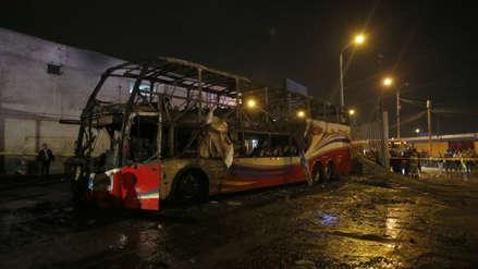 Sutran clausuró de manera temporal a la empresa dueña del bus que se incendió en Fiori