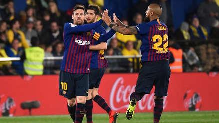 ¡MAGISTRAL! Lionel Messi marcó golazo de tiro libre para darle vida al Barcelona ante el Villarreal