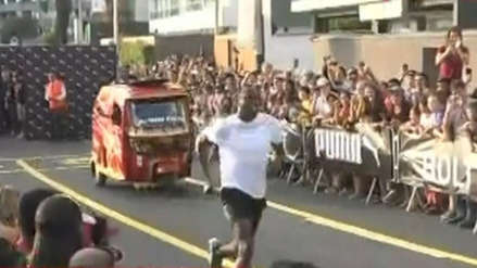¡Como un 'Rayo'! Usain Bolt derrotó a una mototaxi en una carrera de exhibición realizada en Miraflores