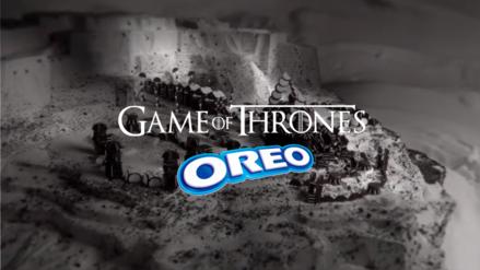 Oreo y Game of Thrones recrean la apertura de la serie con 2750 galletas