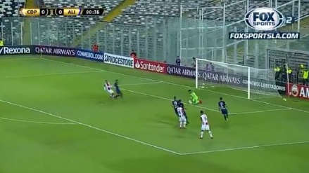 ¡Por poco! Pedro Gallese evitó un gol de Palestino en el primer minuto del partido de Alianza Lima