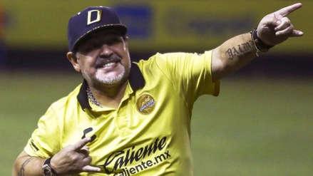 Diego Maradona dedicó el triunfo de los Dorados a Nicolás Maduro