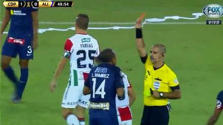 Alianza Lima: La roja a Luis Ramírez en derrota de 3-0 ante Palestino por Copa Libertadores