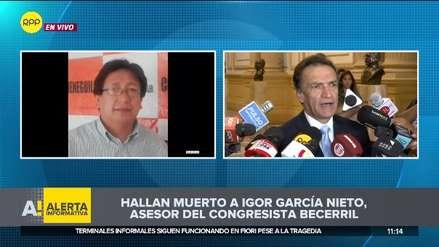 Asesor del congresista Héctor Becerril fue hallado muerto