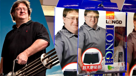 Gabe Newell, dueño de Steam y Dota 2, se convierte en modelo de ropa interior XL en China
