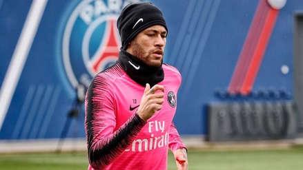 Neymar volvió a los entrenamientos del PSG tras 10 semanas fuera de las canchas