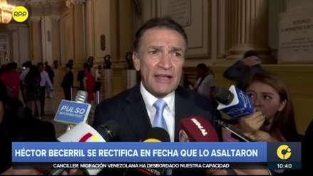 """Becerril se contradijo sobre fecha de supuesto asalto: """"No recuerdo si dije hace 3 meses o 3 semanas"""""""