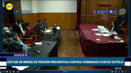 Las Bambas | Poder Judicial dicta 36 meses de prisión preventiva para los hermanos Chávez Sotelo