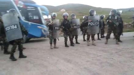Las Bambas | La Policía lanzó gases lacrimógenos en enfrentamiento con comuneros de Pumamarca