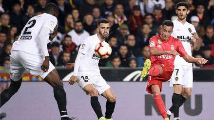 Real Madrid perdió 2-1 ante Valencia en la primera derrota de Zinedine Zidane en su regreso