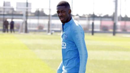 ¿Llegará al partido contra Manchester United? Ousmane Dembelé volvió a los entrenamientos del Barcelona