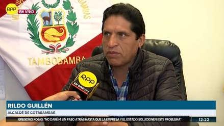 Alcalde de Cotabambas asegura que no fue informado del viaje de dirigentes de Fuerabamba a Lima