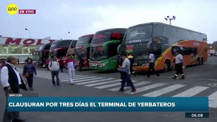 La Municipalidad de San Luis clausuró el terminal de Yerbateros tras hallar irregularidades