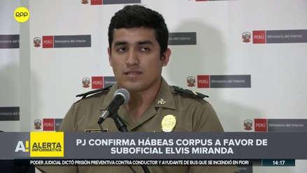 El suboficial Elvis Miranda continuará en libertad: ratifican recurso con el que fue liberado