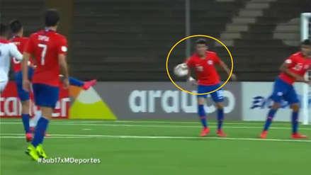¿Fue penal? La jugada que pudo darle empate a Perú ante Chile en el Sudamericano Sub 17