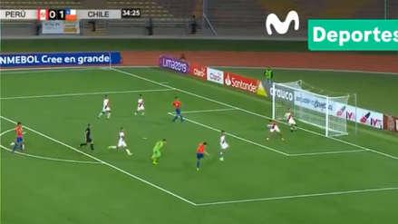 ¡Se durmieron! El segundo gol de Chile ante Perú por Sudamericano Sub 17
