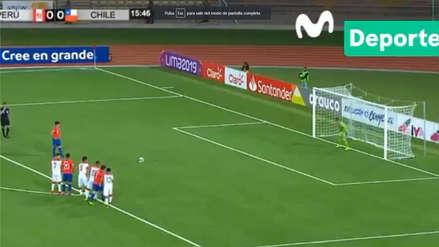 El gol de penal que colocó el 1-0 de Chile ante Perú por Sudamericano Sub 17