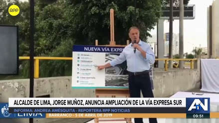 """Jorge Muñoz relanzó la construcción de la Vía Expresa Sur: """"Será ahora una realidad"""""""