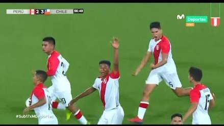 Perú vs. Chile: Nicolás Figueroa marcó de cabeza el segundo gol de la bicolor