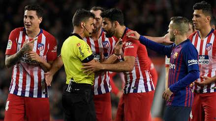 Por insultar al árbitro: la expulsión de Diego Costa frente al Barcelona que condicionó al Atlético de Madrid