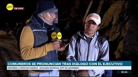 Comuneros de Chalhuahuacho dicen que mantendrán bloqueo si Martín Vizcarra no llega a la zona