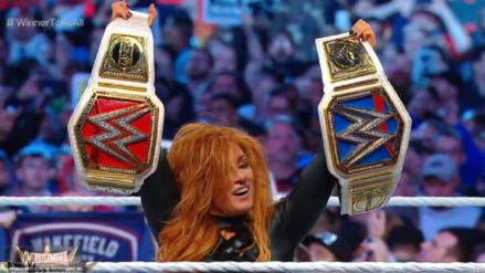 WWE WrestleMania 35 EN VIVO: ¡Final de lujo! Becky Lynch se coronó campeona femenina de RAW y SmackDown