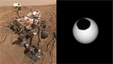 ¡Así es un eclipse solar en Marte! El rover Curiosity registró este impresionante evento