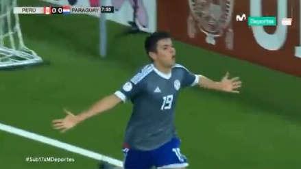 Fernando Presentado aprovechó un error de Perú en defensa para marcar el primer gol de Paraguay