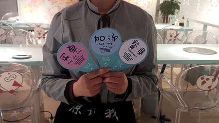 China: un 'restaurante silencioso' abre sus puertas para personas con sordera