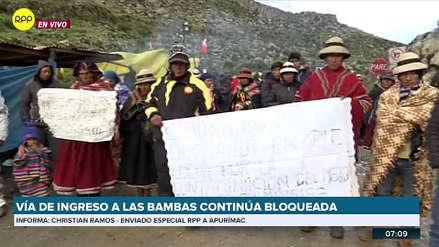 Las Bambas | Comuneros de Chicñahui se suman a la paralización contra la minera