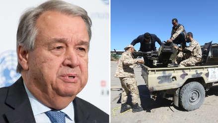 El jefe de la ONU exhorta al cese inmediato de combates en Libia tras ataque a aeropuerto
