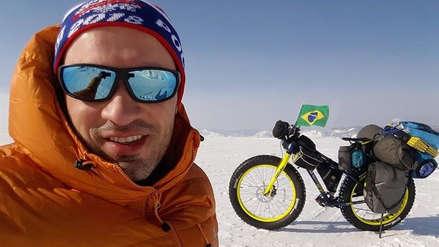 Un brasileño quiere cruzar la Antártida en bicicleta