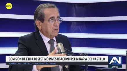 """Jorge del Castillo tras archivarse caso de pagos a su exasesora: """"El tema lo entiendo superado"""""""