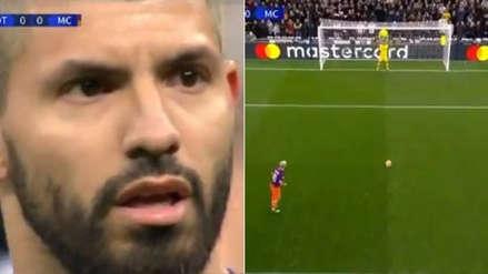 Mira cómo Sergio Agüero falló este penal tras gran atajada de Hugo Lloris en el City vs. Tottenham