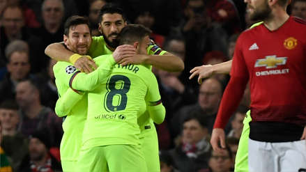 Barcelona sacó un triunfazo de Old Trafford al vencer por la mínima diferencia al Manchester United