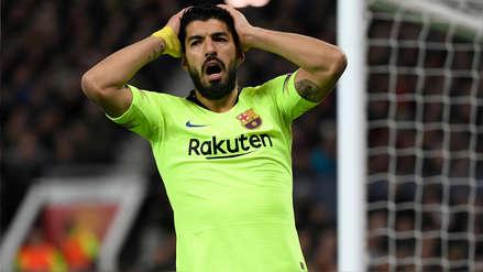 ¡Estuvo cerca! La clara ocasión de gol que Luis Suárez erró ante Manchester United