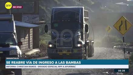 La vía de ingreso a Las Bambas se reabre temporalmente tras firma de acuerdo