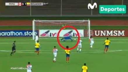 Perú: arquero Massimo Sandi y su floja reacción en gol  de Ecuador