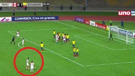 Perú Sub 17: Yuriel Celi anotó un golazo de tiro libre ante Ecuador