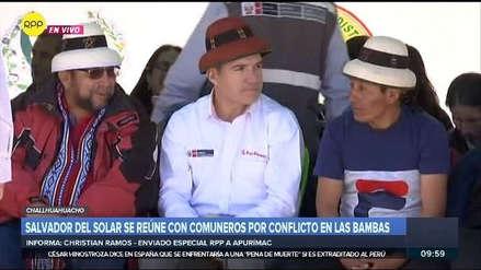 Las Bambas | Así fue recibido Salvador del Solar en su llegada a Challhuahuacho