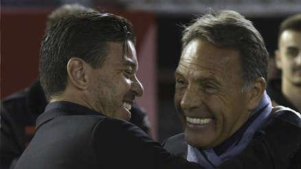 Alianza Lima vs River Plate: El afectuoso saludo de Russo y Gallardo previo al partido por Copa Libertadores