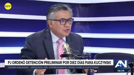 "César Nakazaki tildó de ""ilegal"" la orden de detención dictada contra PPK"