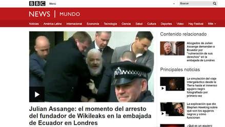 Así informó la prensa internacional sobre la detención de Julian Assange, el fundador de WikiLeaks