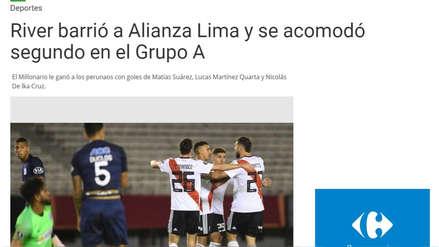 Así reaccionó la prensa internacional tras la caída de Alianza Lima ante River Plate