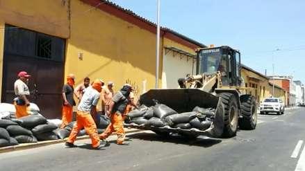 Niño Costero: Retiran más de 8 mil sacos de arena del centro de Trujillo por ausencia de lluvias